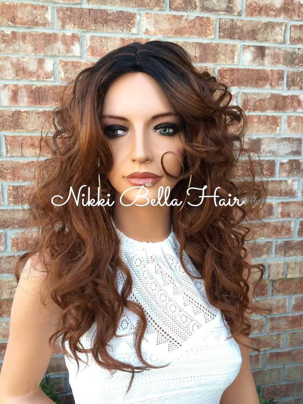 Gate Human Hair Blend Multi Parting Lace Front Wig