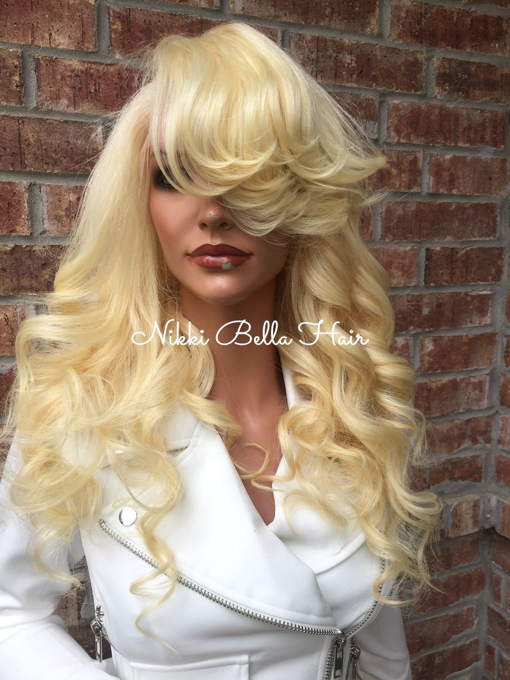 Human Hair Multi Parting Full Lace Wig - Alexandra