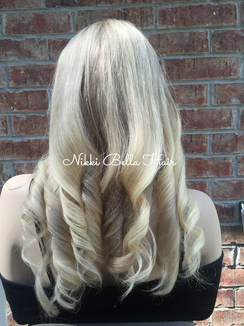 Ash Blonde Balayage Full Lace Wig 22""
