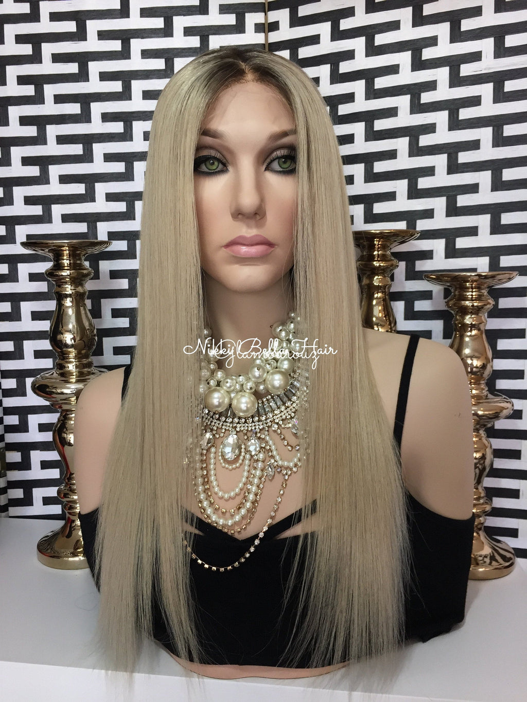 Light Root Balayage Remy Human Hair Natural Full Lace Wig - Teagan