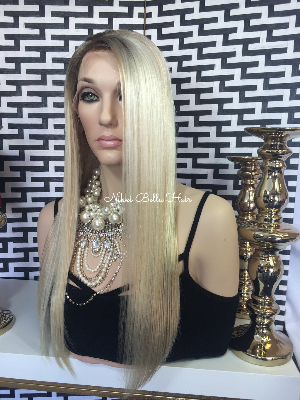 Ash Blonde Remy Human Hair Full Lace Wig - Mira