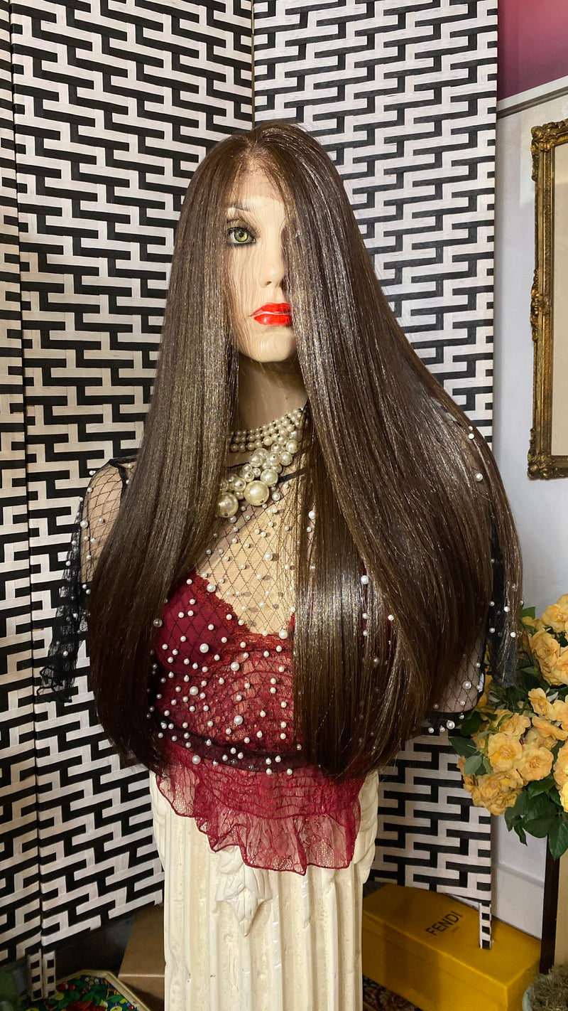 "BALAYAGE BROWN 24"" silky soft straight hair