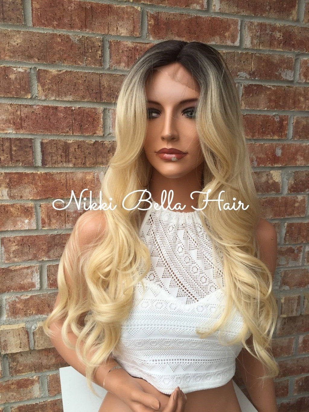 Dina Human Hair Blend Multi Parting Lace Front Wig
