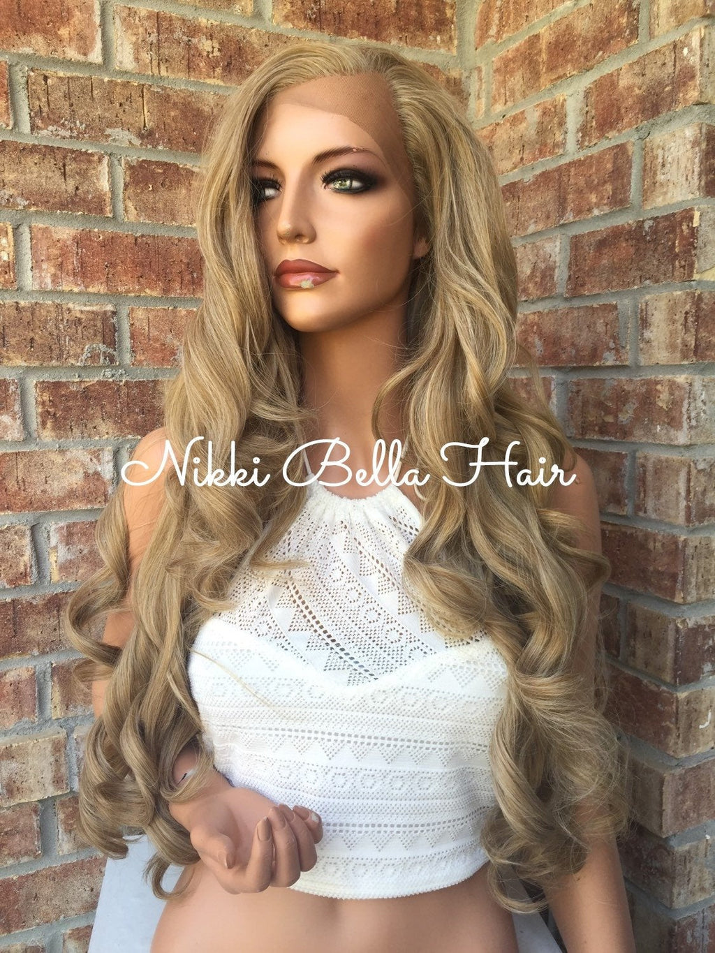 Debbie Human Hair Blend Multi Parting Lace Front Wig