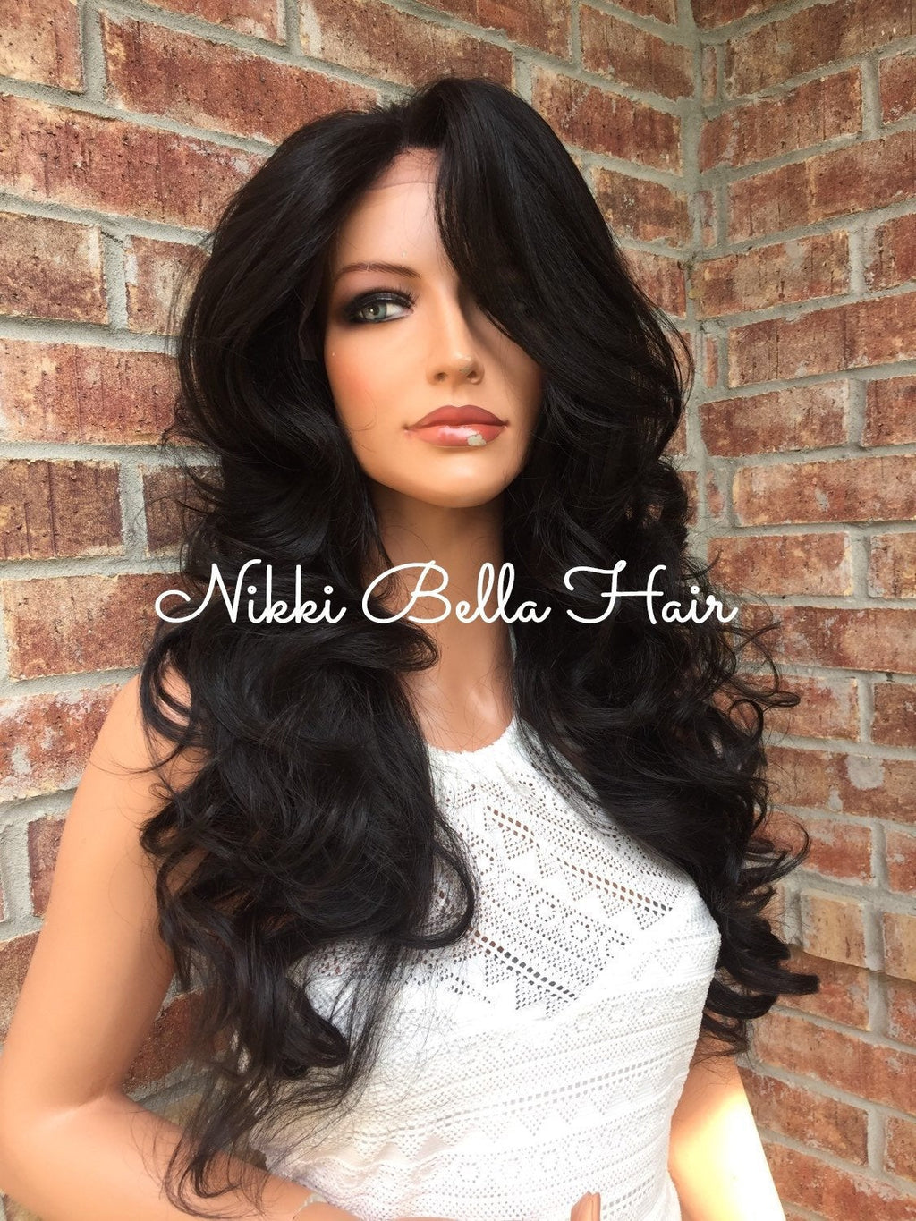 Gina 4x4 Silk Top Human Hair Blend Multi Parting Lace Front Wig