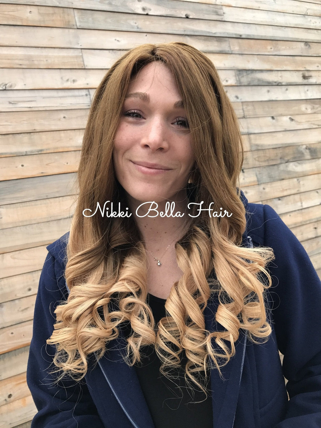 "Autumn Blonde 26"" Human Hair Multi Parting Full Lace Wig"