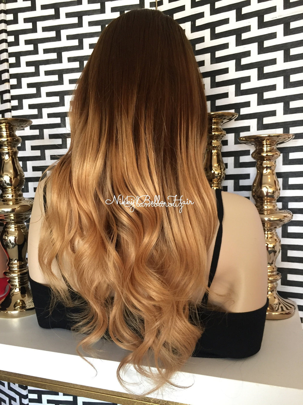 Remy Human Hair Full Lace Wig - Toffee Cake