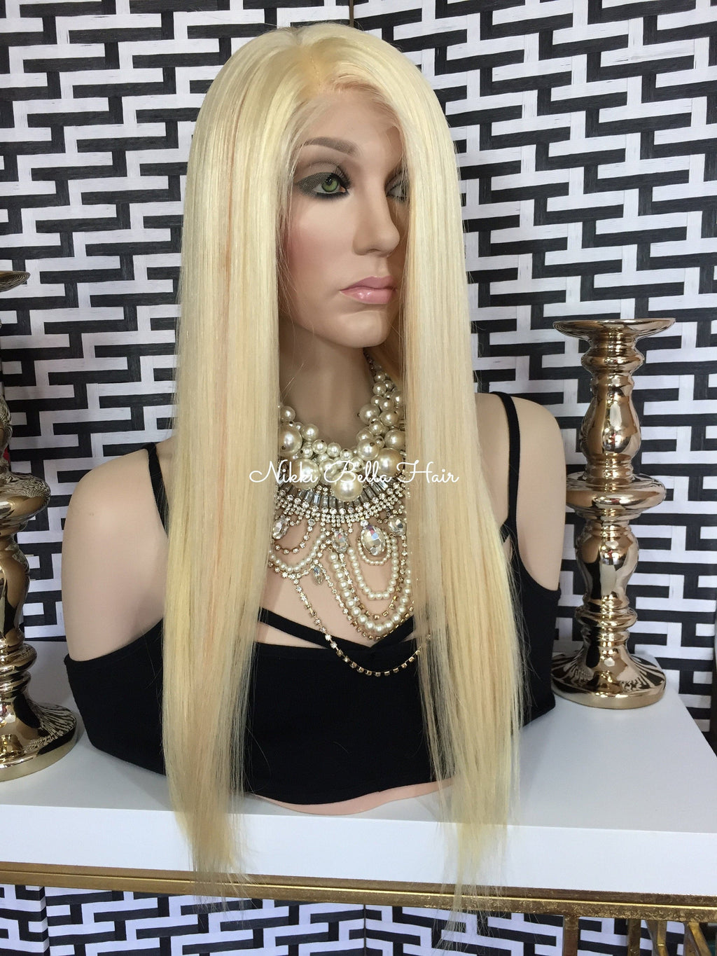 Light Blonde Remy Human Hair Full Lace Wig - Claudia