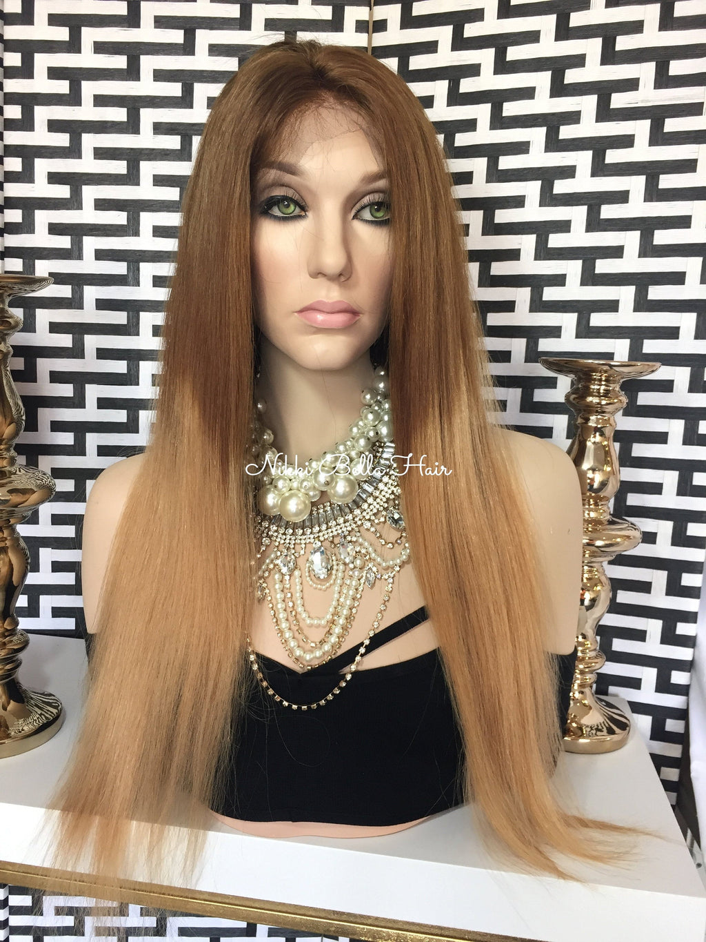 Ombre' Blonde Remy Human Hair Full Lace Wig - Chelsey