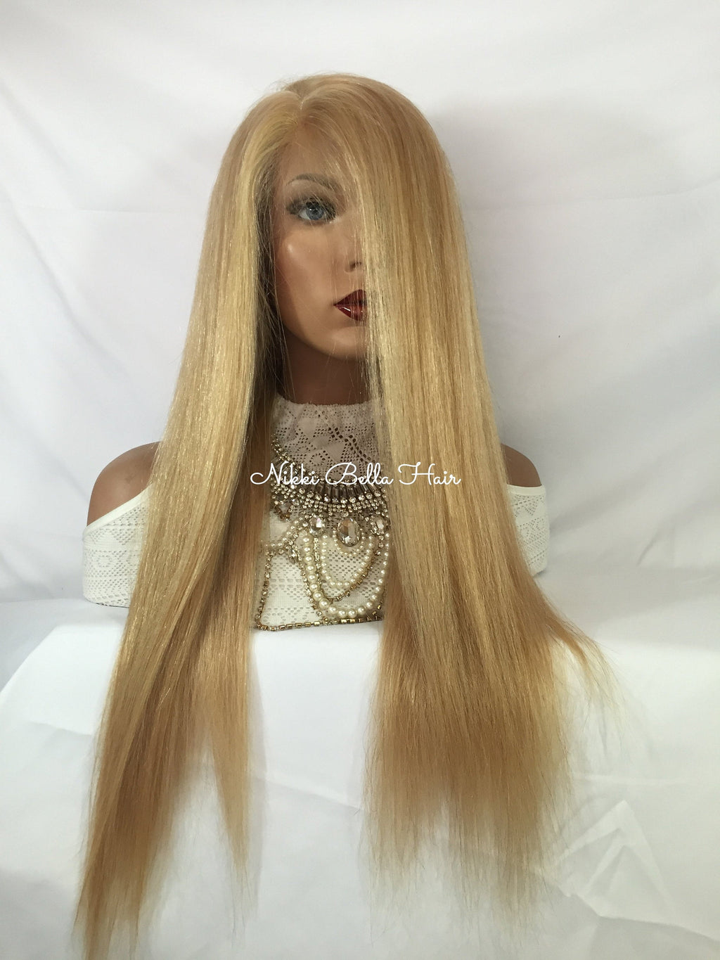 Dark Blonde Remy Human Hair Full Lace Wig - Yanna