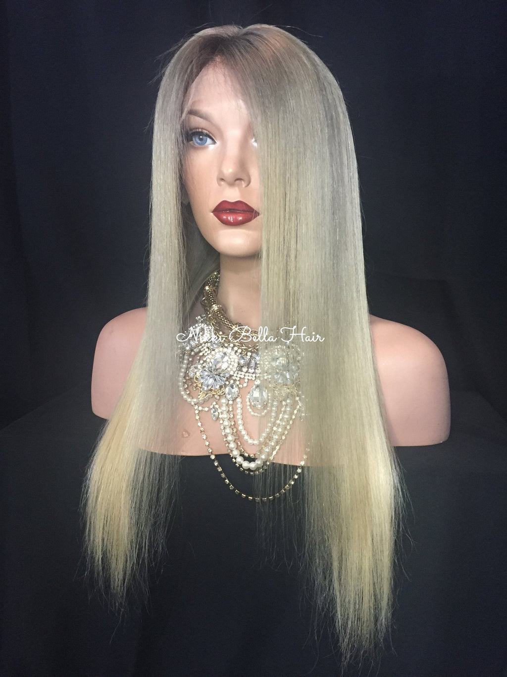 Natural Blonde Balayage Remy Human Hair Full Lace Wig - Hadley