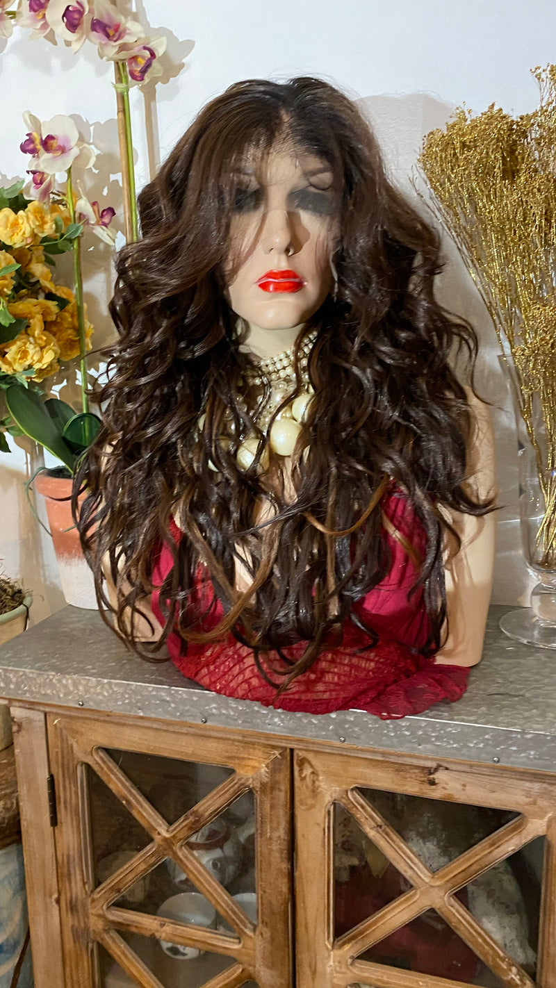 "BELINDA |20"" balayage brown hair