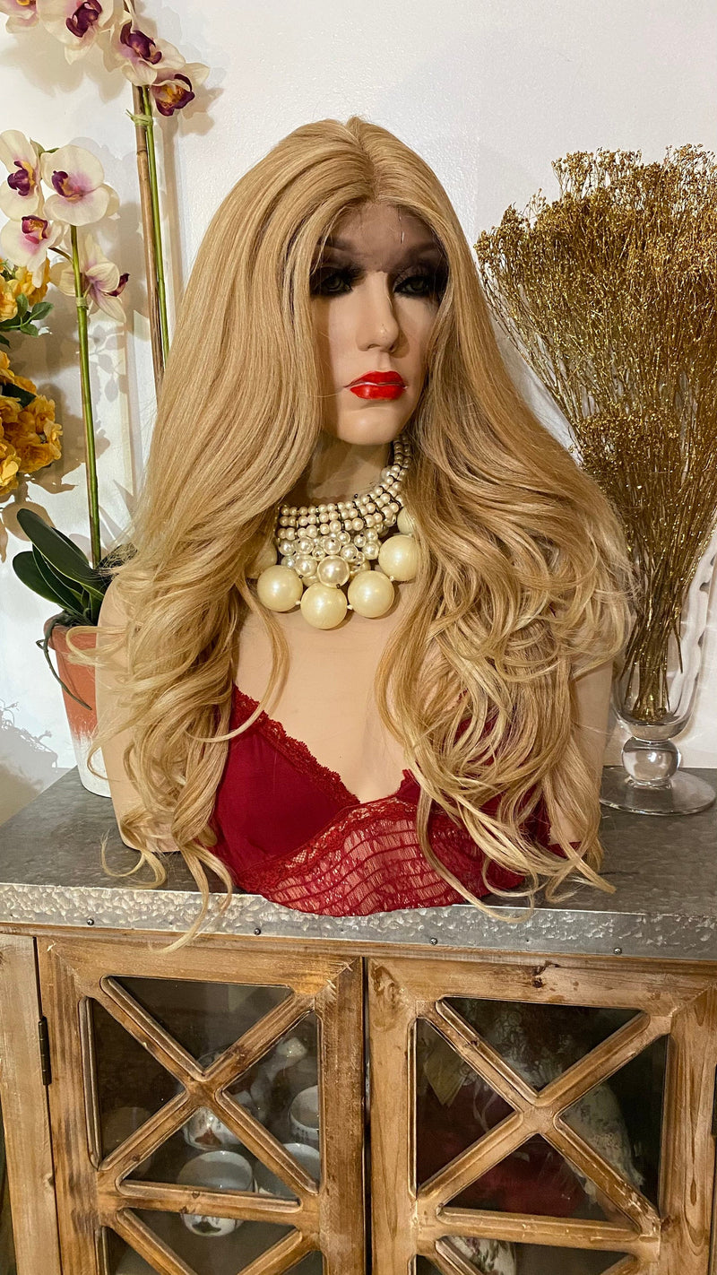 "GINA| 24"" honey blonde curls hair