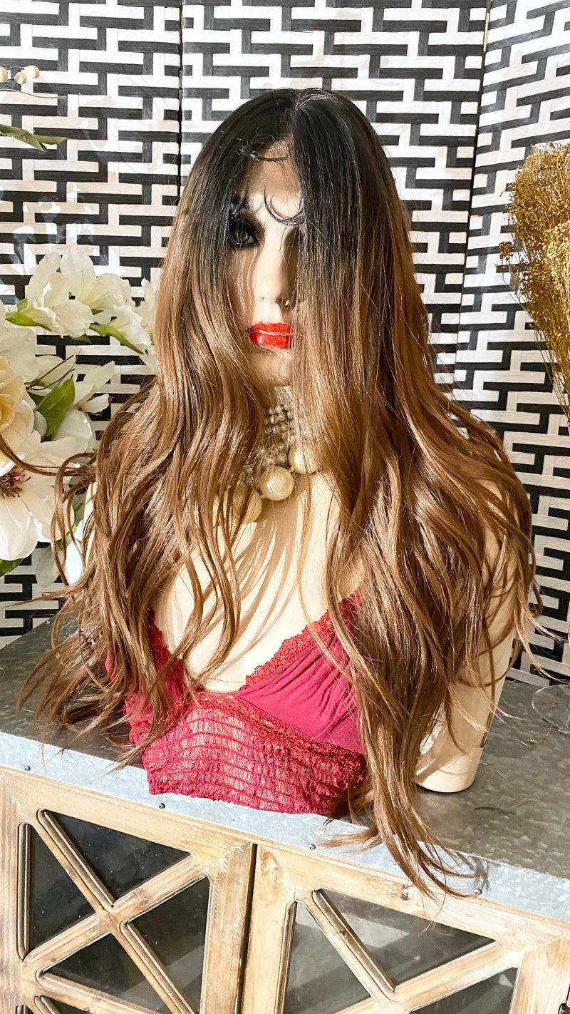 "Ombré BEACH WAVES | 20"" Melted Lace Front Wig"