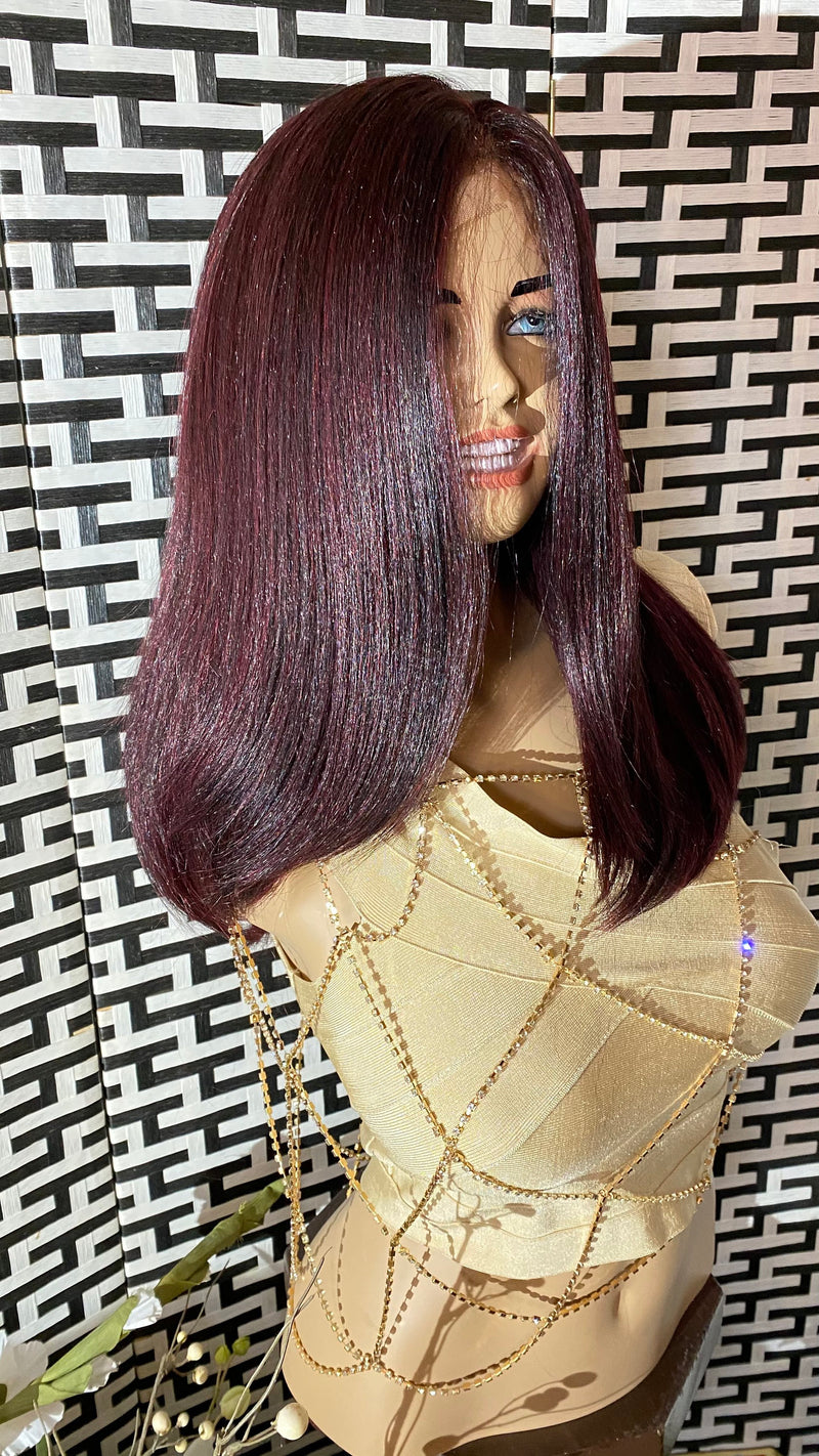 MARISA* purple balayage hair | LUXURIOUS hd full lace wig 16"