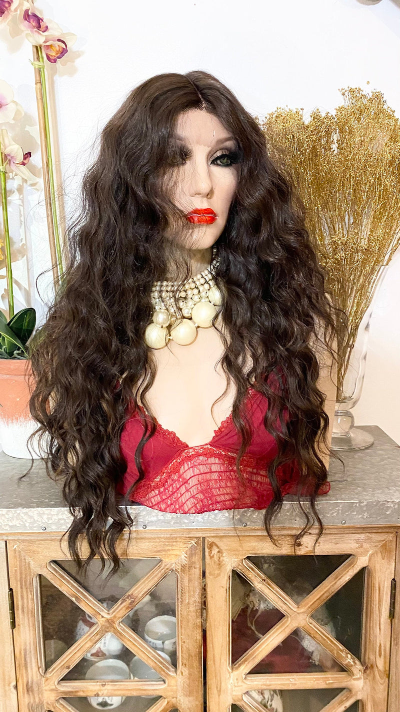 "FELICITY |26"" brown wavy hair