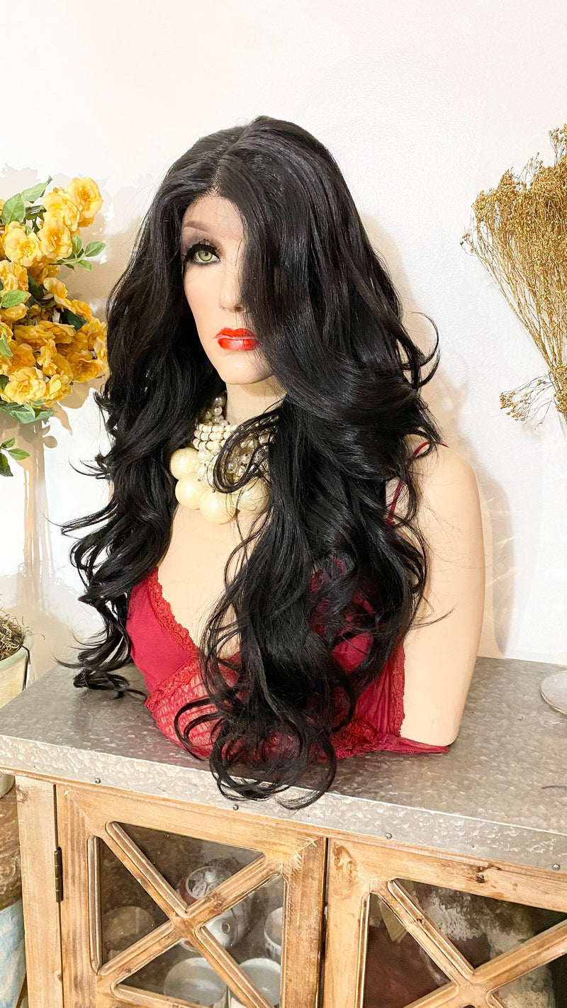 "MARINA | 24"" BLACK curls hair