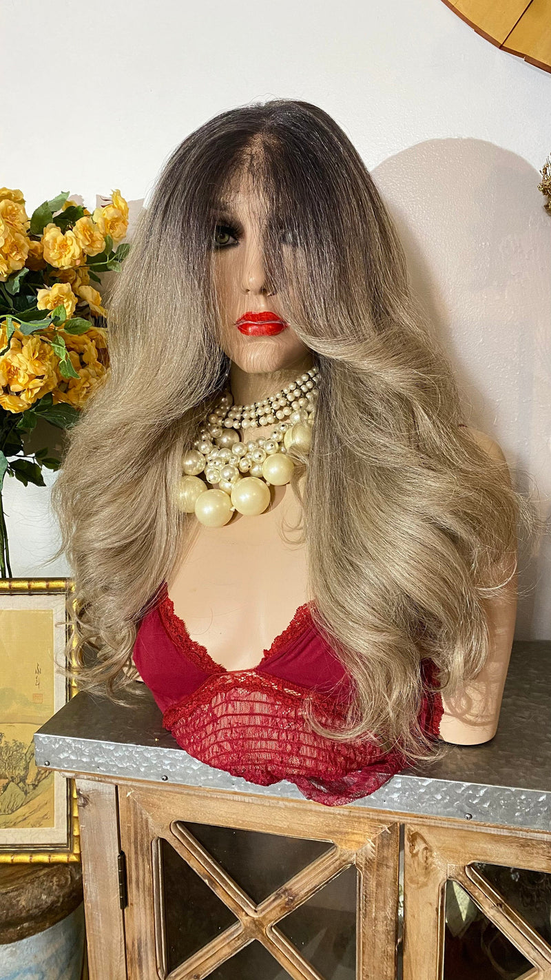 "CARA | ash blonde 26"" lace frontal wig 