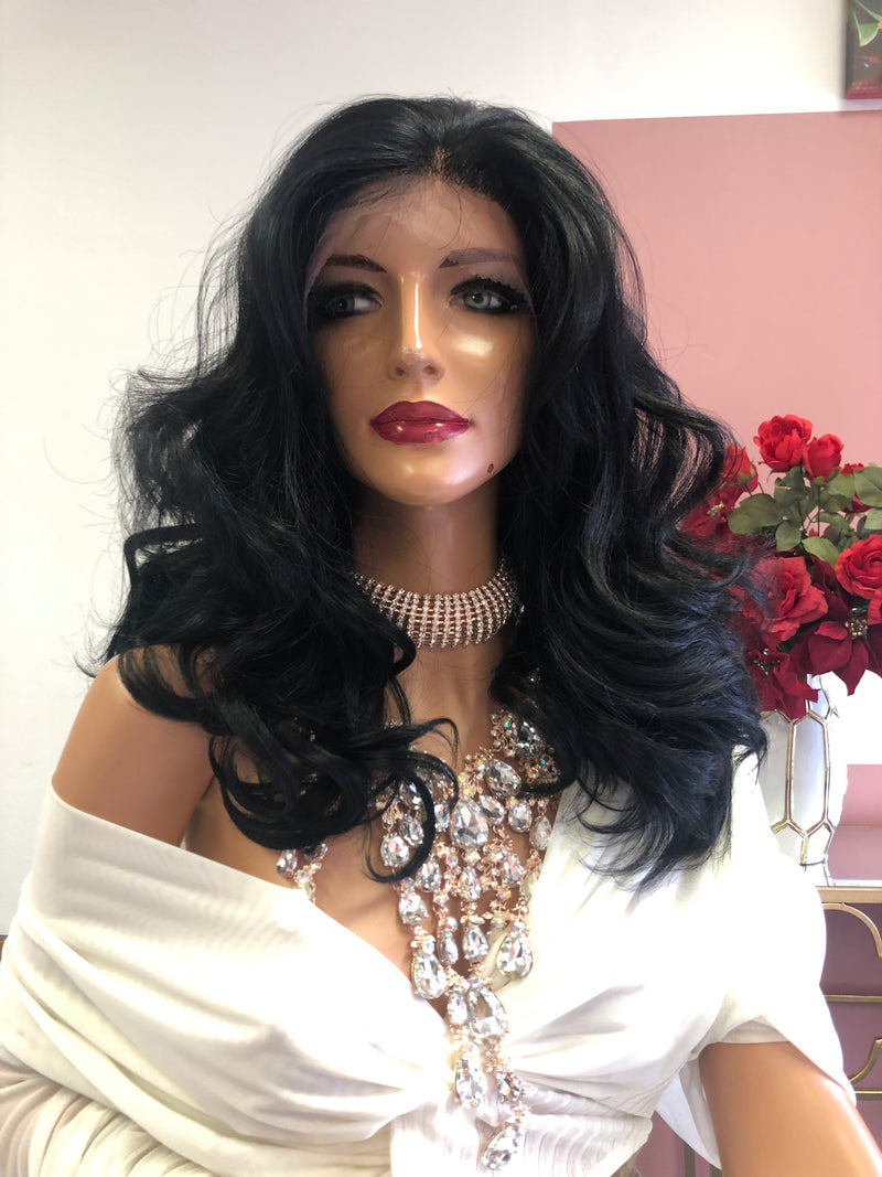 "Black Swiss Full Lace Wig 12"" 0319 Layla"