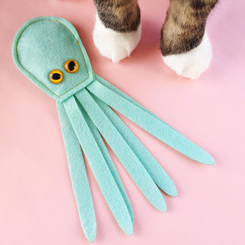 Catnip Kraken Cat Toy