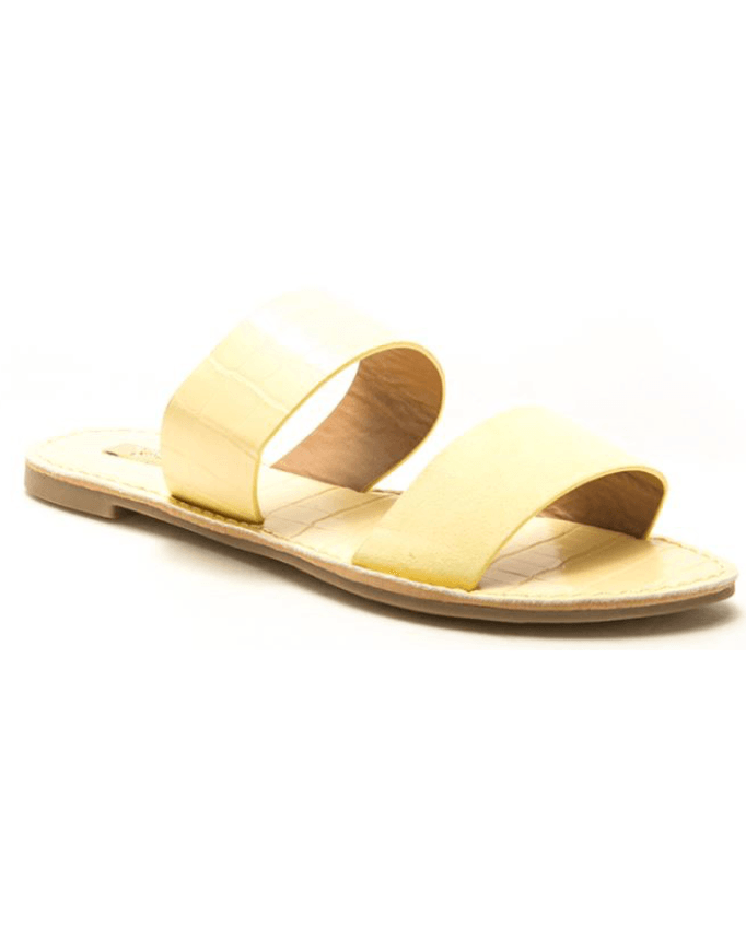 Athena Sandal in Butter Croc