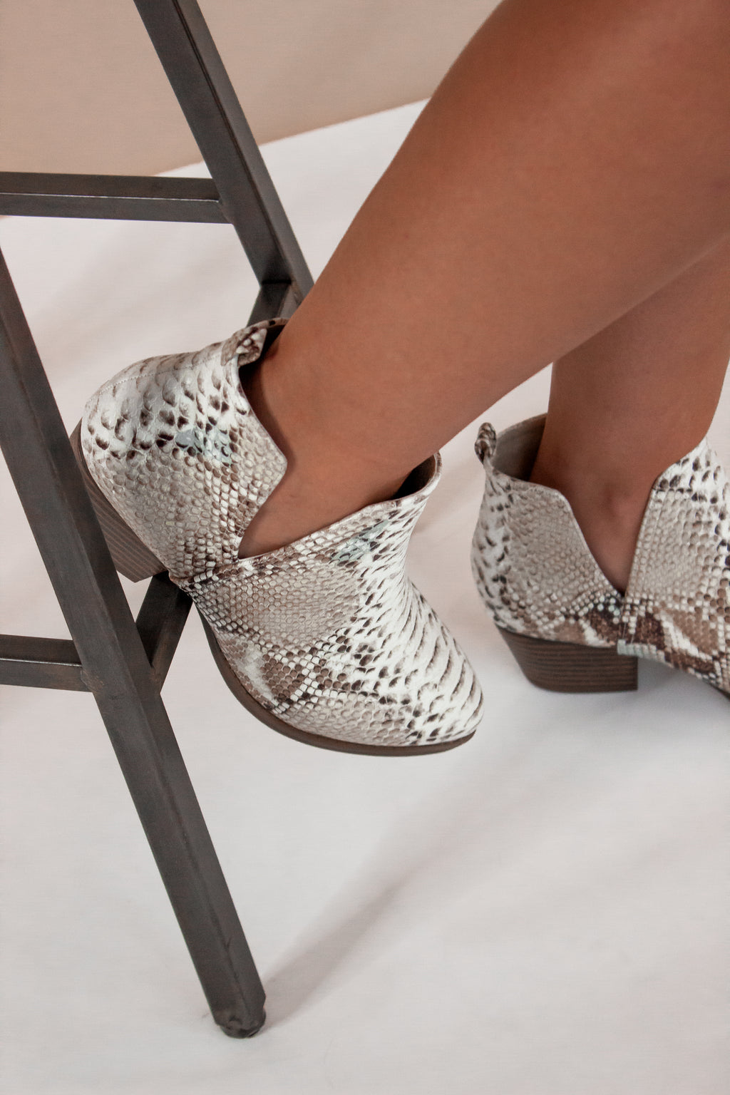 Chinese Laundry: Cherish Bootie in Snake