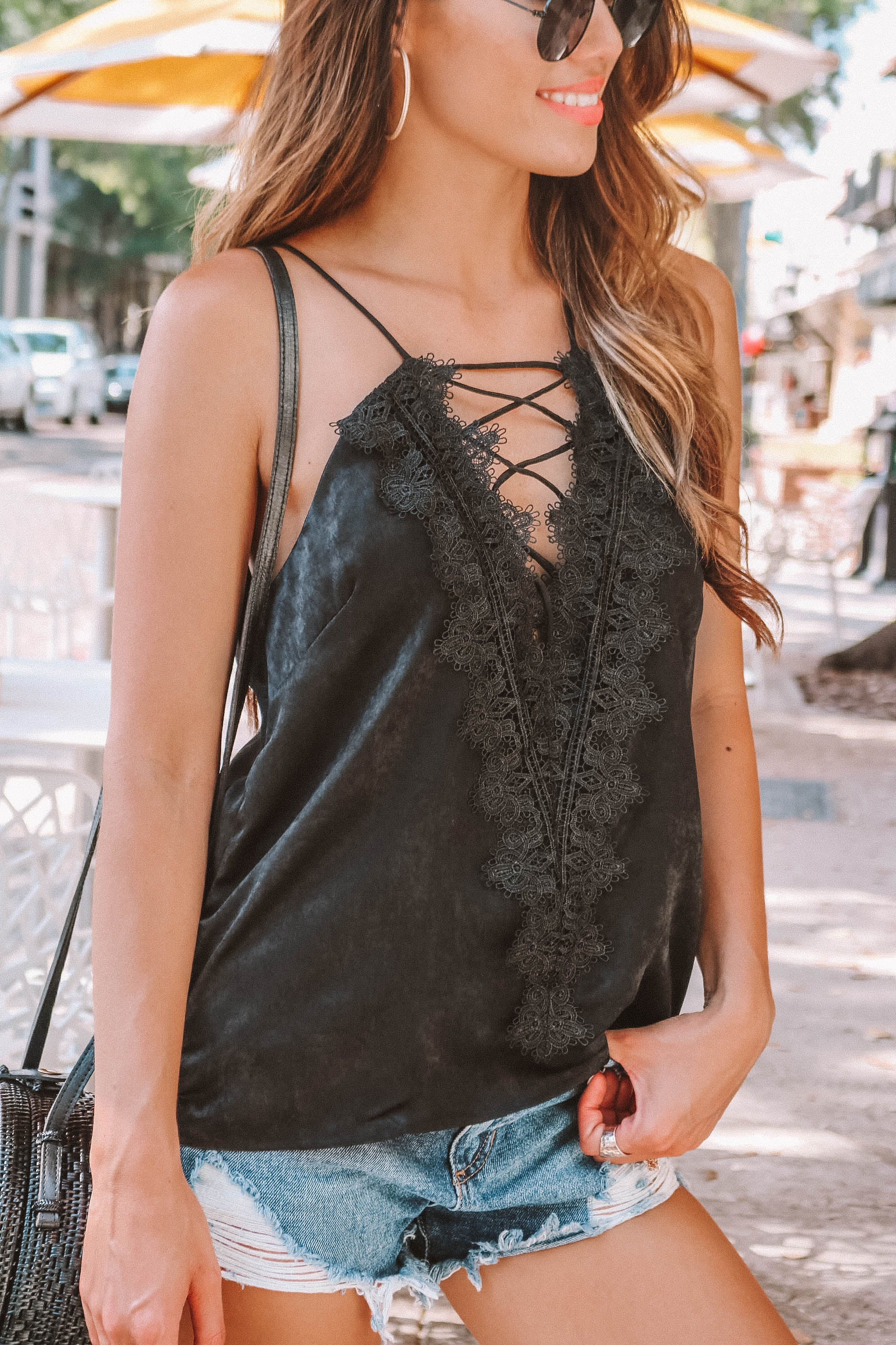 Ella Lace Top in Black