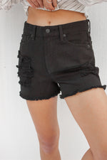 Harley Denim Short in Black
