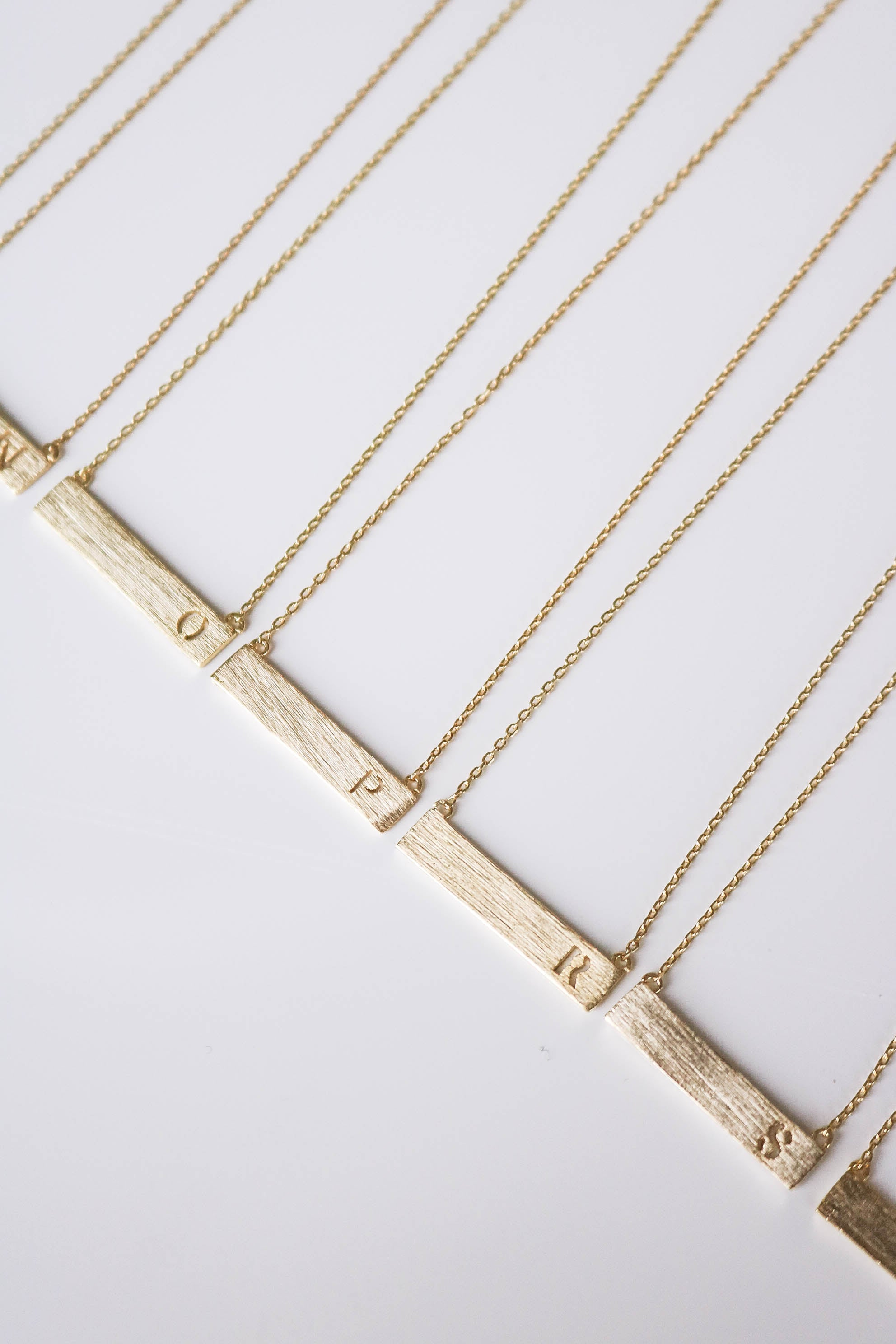 Initial Bar Necklace