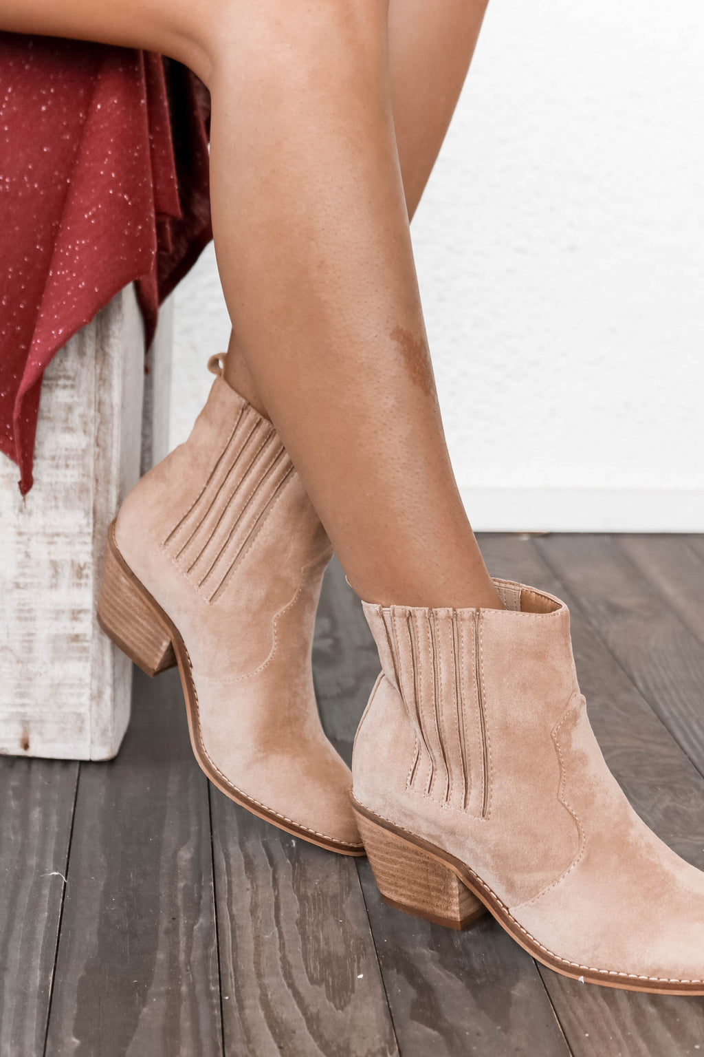 Lenora Boot in Oat