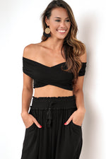 Off Season Crop Top in Black