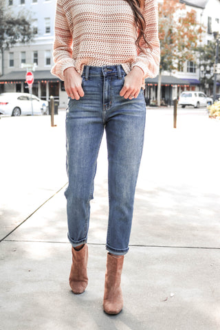 McKenna Denim in Vintage Distressed