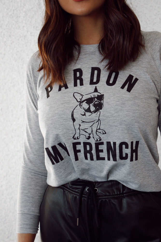 Pardon My French Pullover