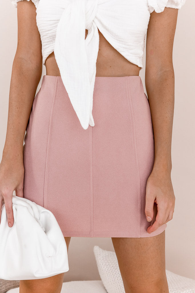 Right Fit Skirt in Dusty Mauve