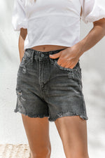Riverside Denim Short in Black