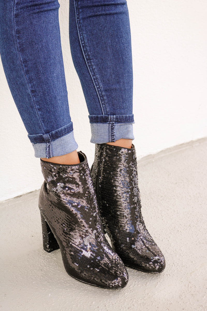 Sequins Of Events Ankle Boot