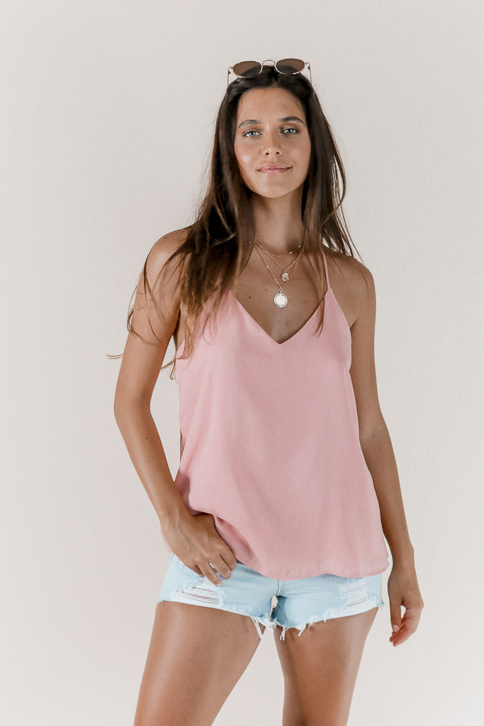 Sincerely Tank in Rose