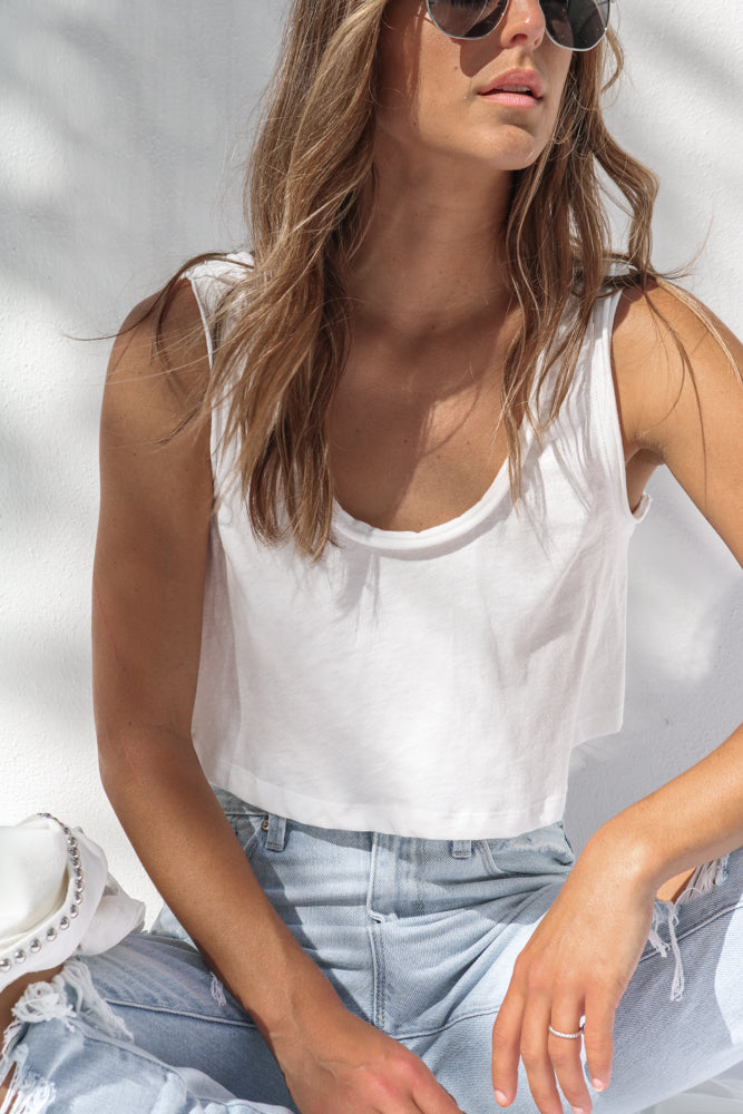So Chill Tank Top in White