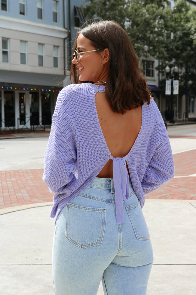 Sweet Escape Sweater in Lavender