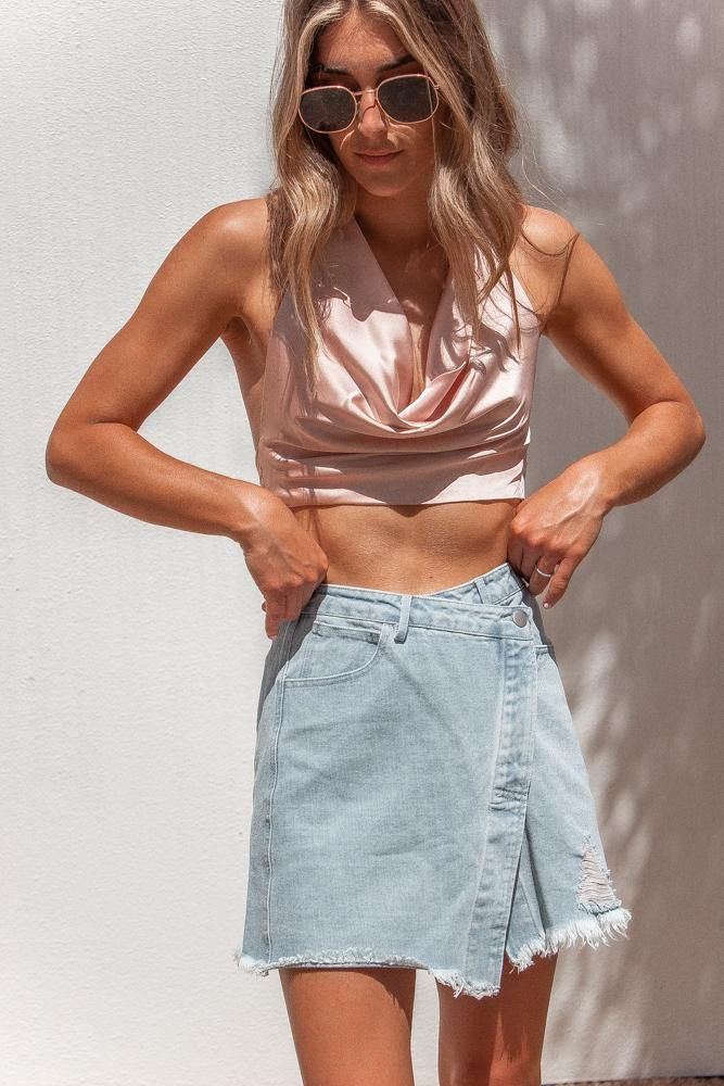 Across Town Denim Skirt