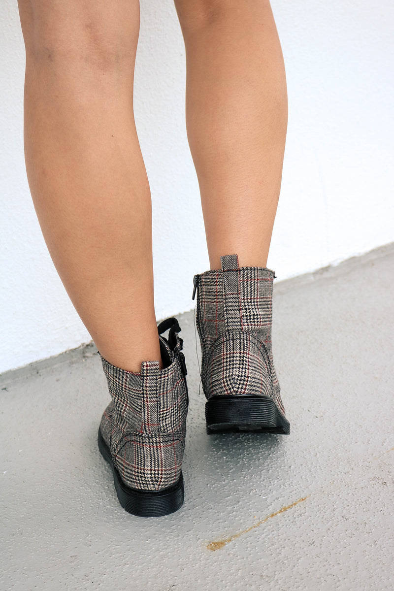 Plaid Influence Boot