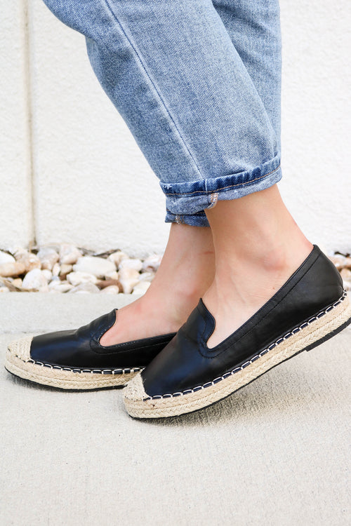Take Your Time Espadrille in Black