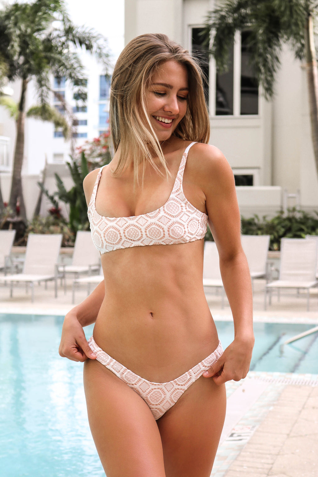 Under The Secret Bikini Top in White
