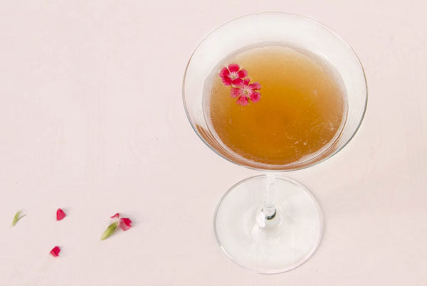 Martini with a Runaway Rose edge