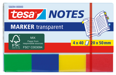 tesa® Transparent marker Notes 4x20x50mm