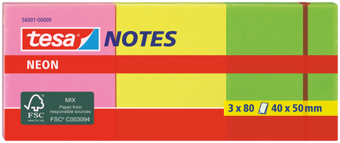 tesa® Neon Notes 3x50mmx40mm