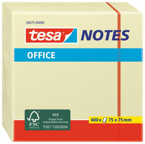 tesa® Yellow Office Notes 75X75 Yellow