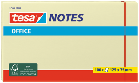 tesa® Yellow Office Notes 125x75mm