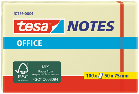 tesa® Yellow Office Notes 50X75 Yellow