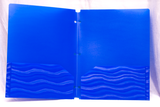 Double Pocket Folder Plastic/Poly Flexi Wave Design